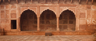 Beautiful, Ornate Stone Entryway to the Taj Mahal in Agra, India Stock Photography
