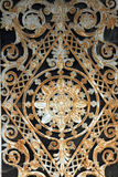 Beautiful ornate tomb door in the Pere Lachaise cemetery. Paris Stock Photo