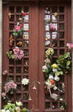 Beautiful ornate tomb door in the Pere Lachaise cemetery. Paris Royalty Free Stock Photos