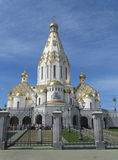 Beautiful orthodox church in Byelorussia. Stock Photos