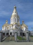 Beautiful orthodox church in Byelorussia. Stock Photos