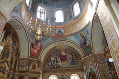 Beautiful Orthodox Church. Inside the beautiful Orthodox Church in Ukraine Stock Photos