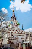 Beautiful orthodox temple. Close-up royalty free stock photos
