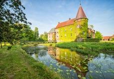 Beautiful Ortofta castle in spring season Royalty Free Stock Image