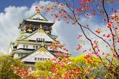 Beautiful Osaka Castle in Osaka with nice background, Japan Royalty Free Stock Images