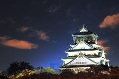 Beautiful Osaka Castle in Osaka with nice background, Japan Royalty Free Stock Photo