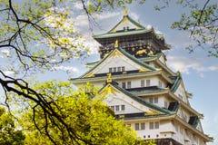 Beautiful Osaka Castle in Osaka with nice background, Japan Royalty Free Stock Photos