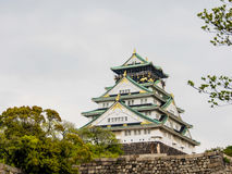 Beautiful Osaka castle in spring season, Osaka Japan 2 Royalty Free Stock Image