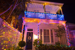 Free Beautiful Outdoor Christmas Lights Display House Decocation Royalty Free Stock Photography - 82973677