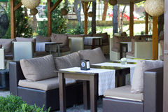 Beautiful Outdoor Living Space. For rest Royalty Free Stock Photo
