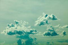 Beautiful outdoor shot blue sky and clouds Royalty Free Stock Photography
