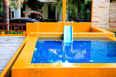 Beautiful outdoor swimming pool. Corner Stock Photography