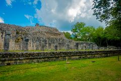 Beautiful outdoor view of Chichen Itza Mayan ruins in Mexico.  Stock Photo