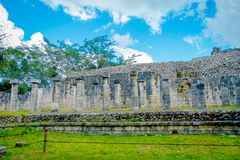 Beautiful outdoor view of Chichen Itza Mayan ruins in Mexico.  Royalty Free Stock Photos