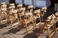 Beautiful outdoor wedding ceremony spot Stock Images