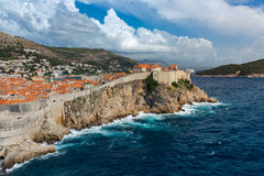 Beautiful Outer Fortress Walls of Dubrovnik Croatia Cityscape De Stock Image
