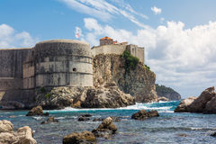 Beautiful Outer Fortress Walls of Dubrovnik Croatia Cityscape De Royalty Free Stock Images