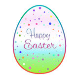 Beautiful outline easter egg with colored dots Stock Images