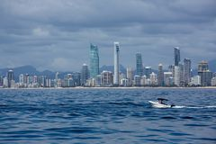 Beautiful over the water view of the Gold Coast, Queensland, Aus Stock Photo