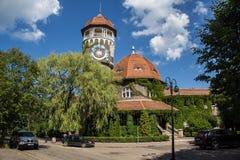 Beautiful overgrown water tower Rauschen, Kaliningrad region Royalty Free Stock Image