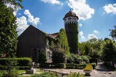 Beautiful overgrown water tower Rauschen, Kaliningrad region Royalty Free Stock Images