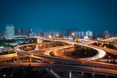 Beautiful overpass in the night Royalty Free Stock Photo