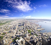 Beautiful Overview from Columbia Tower Stock Images