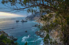 Beautiful Pacific coast, California. Beautiful pacific coast near Big Sur, California Royalty Free Stock Photos