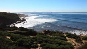 The beautiful Pacific Coast near San Diego stock video footage