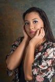 Beautiful Pacific Island teenager Stock Image
