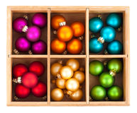 Beautiful packaged Christmas balls Royalty Free Stock Images
