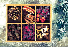 Beautiful packaged Christmas decoration Royalty Free Stock Photos