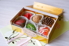 Beautiful packing sweets Stock Images