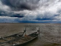 BEAUTIFUL PADMA RIVER RAJSHAHI BANGLADESH. It is my Photography in Rainy Season . This photo is special because it& x27;s describing the beauty of Padma River in royalty free stock photos