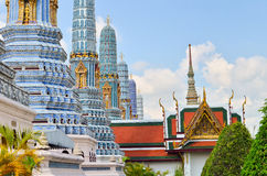 Beautiful pagoda at Bangkok's Grand Palace Royalty Free Stock Photos