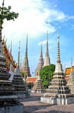 Beautiful Pagoda and Blue Sky. In the morning Bangkok Royalty Free Stock Image