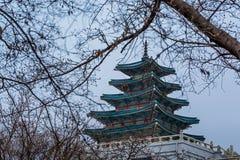 Pagoda in Gyeongbokgung royalty free stock images