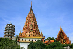 Beautiful pagoda and shrine at wat Tham Sua Royalty Free Stock Photography