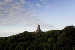 A beautiful pagoda on top of the mountain, Thailand. Stock Images