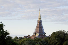 A beautiful pagoda on top of the mountain, Thailand. Royalty Free Stock Photo