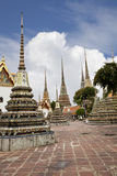 Beautiful pagodas in wat pho Royalty Free Stock Photography