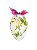 Beautiful painted Easter egg with red bow Royalty Free Stock Image