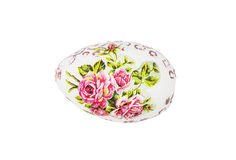 Beautiful painted Easter egg with red flowers Stock Image