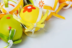 Beautiful painted Easter eggs royalty free stock photos