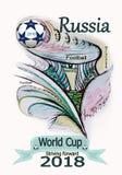Beautiful painted Logo on the football theme. royalty free stock photo