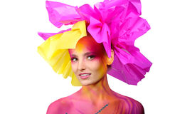 Beautiful painted woman Royalty Free Stock Photography