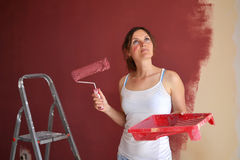 Beautiful painter Stock Photography
