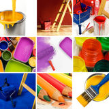 Beautiful painting collage Stock Images