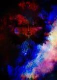 Beautiful Painting Goddess Woman with bird phoenix Royalty Free Stock Photography