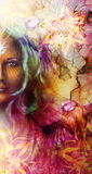 Beautiful Painting Goddess Woman with ornamental Stock Photos